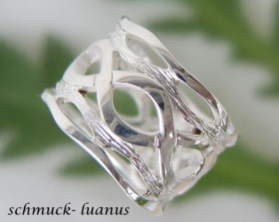 Ring Silber breit durchbrochen