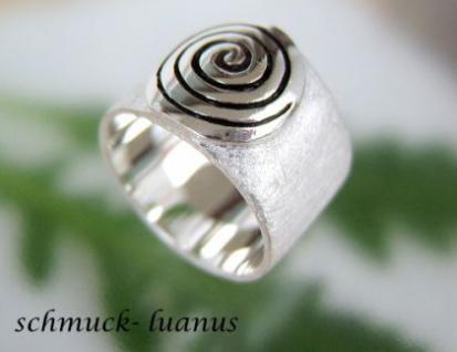 Ring Silber Spirale matt breit