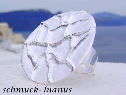 Silber Ring matt Tellerring