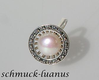 Silberring Perle Markasit - Vorschau 2