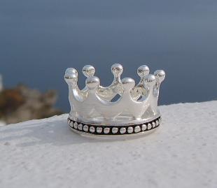 Kronenring Silber matt