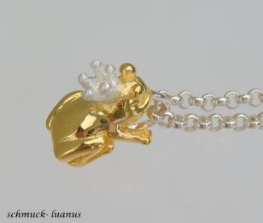 Frosch Anhänger Silber vergoldet
