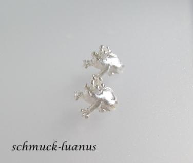 Ohrstecker Frosch Silber