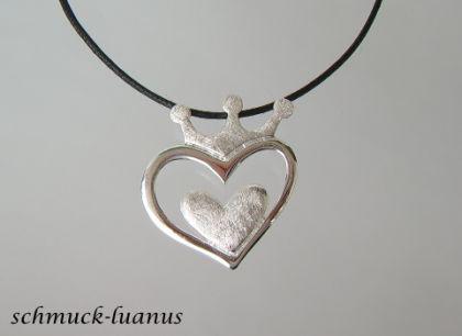 Herzanhänger Silber mit Kette