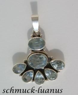 Blautopas Kettenanhänger Silber