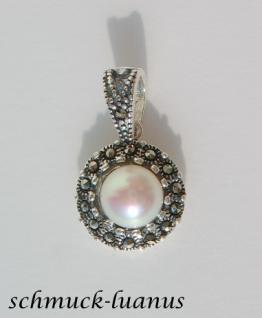 Perlenanhänger Silber Markasit