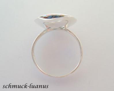 Silberring mit Perle Tellerring - Vorschau 3