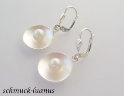 Ohrringe Silber Perle - Vorschau 2