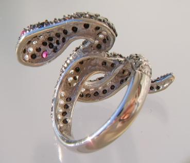 Schlangenring Zirkonia Silber - Vorschau 4