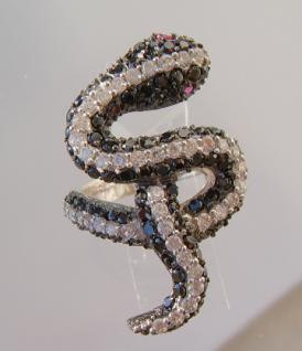 Schlangenring Zirkonia Silber - Vorschau 5