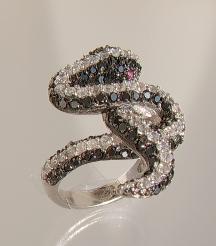 Schlangenring Zirkonia Silber - Vorschau 2