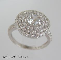 Pave Zirkonia Ring Silber weiß