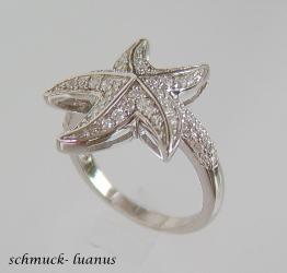 Seestern Ring Silber