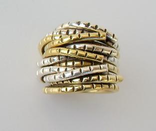 Ring Silber breit bicolor - Vorschau 4