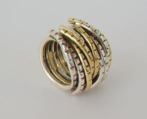 Ring Silber breit bicolor - Vorschau 2