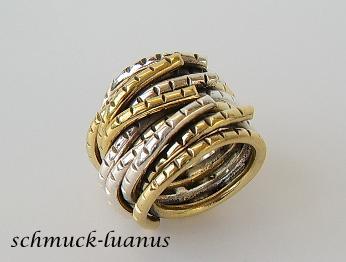 Ring Silber breit bicolor