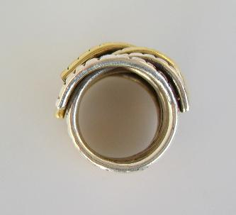 Ring Silber breit bicolor - Vorschau 3