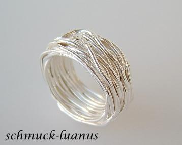 Wickelring aus Silberdraht - Kaufen bei schmuck-luanus.yatego.com