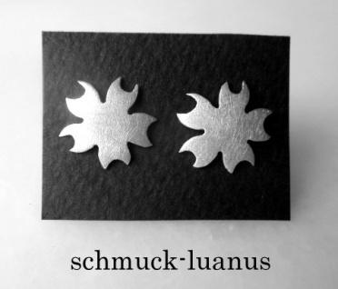 Ohrstecker Silber matt Blüte 12 mm