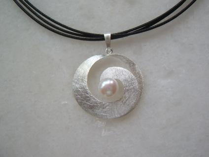 Silberanhänger mit Perle