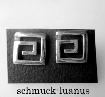 Ohrstecker Silber Meander 13x13 mm