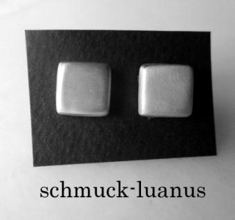 Ohrstecker Silber matt 9x9 mm