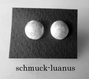 Ohrstecker Silber matt rund