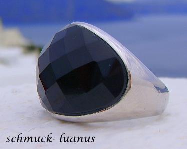 Ring Silber Onyx schwarz
