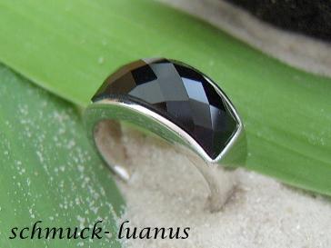 Onyx Ring Silber