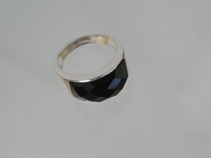 Ring Silber Onyx facettiert - Vorschau 2