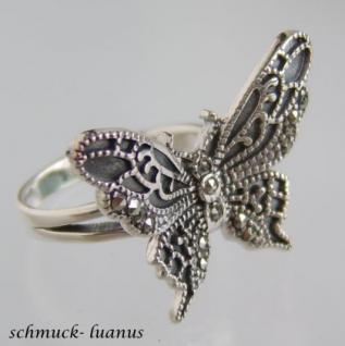 Schmetterling Ring Silber - Vorschau 1