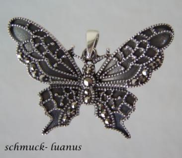 Silber Anhänger Schmetterling Markasit
