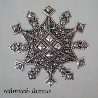 Silber Anhänger groß Schneeflocke