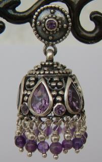 Amethyst Ohrringe Silber - Vorschau 3