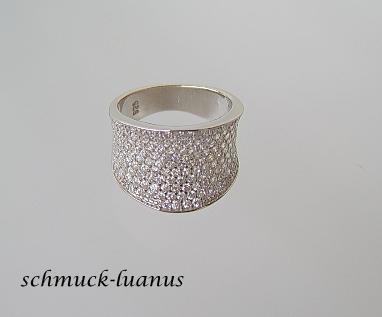 Pave Zirkonia Ring Silber weiß - Vorschau 3