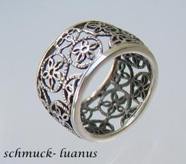 Silber Ring breit filigran