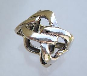 Ring Silber breit Kettenring - Vorschau 2