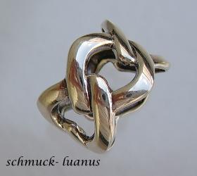 Silber Ring breit Kettenring