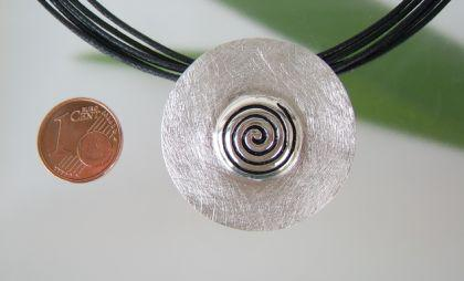 Silber Anhänger Spirale - Vorschau 2