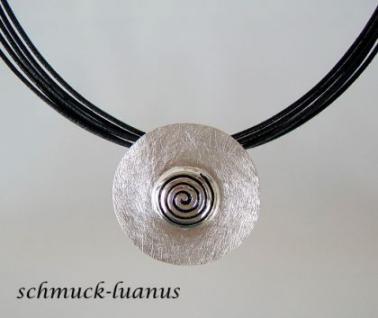 Kettenanhänger Spirale Silber