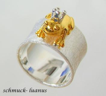 Frosch Ring Silber Froschkönig