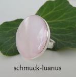 Perlmuttring rosa Silber