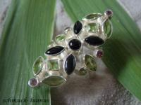 Peridot Ring Silber