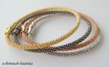 Silberarmband Rotgold Magnetverschluss