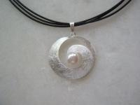 Silberanhänger Spirale matt