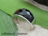 Onyx Ring Silber
