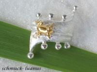 Frosch Ring Silber
