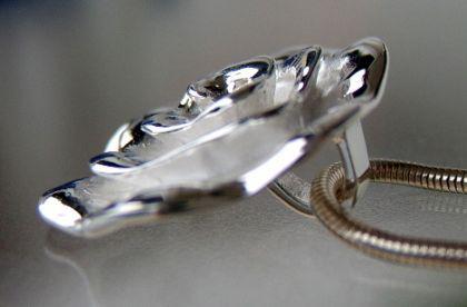 Rose Anhänger Silber 925 Sterling groß Rosenanhänger - Vorschau 2