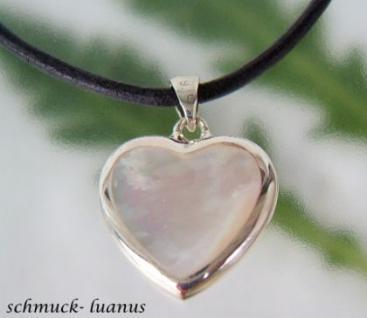 Herzanhänger Perlmutt Silber
