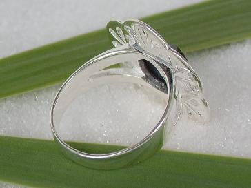 Ring Silber Onyx Tellerring - Vorschau 2